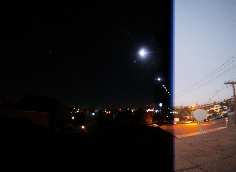Lunar Eclipse Time Lapse Picture